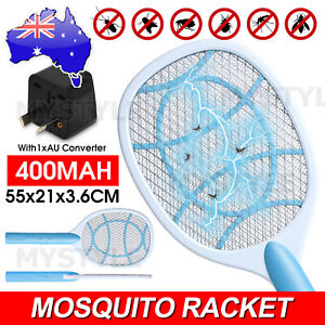 Electric Rechargable Racket Fly Mosquito Killer Bug Insect Zappers Swatter Pest