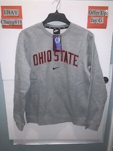 NWT NIKE OHIO STATE BUCKEYES PULLOVER SWEATSHIRT Men's Medium M TEAM-ISSUE  Grey