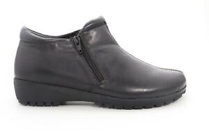 Walkingcradles  Zeno Booties  Women's  Black  Nappa Size US 7 Wide=