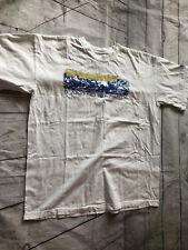 Adidas 2001 VTG 105th Boston Marathon It Ain't No Tea Party White T Shirt Sz L