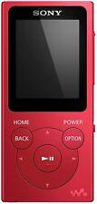 Sony NW-E394 Walkman MP3 Player with FM Radio 8 GB - Red - NEW