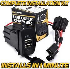USB Charger Kit fits John Deere Gator TX Military TH 6x4 CS CX TS w/Wire Harness