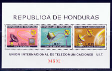 HONDURAS 1968 ITU TELECOMMUNICATIONS SATELLITE SCARCE S/S NOTED IN SCOTT