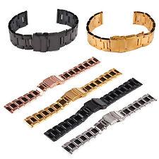 Men Flip Stainless Steel Metal Belt Watch Band Strap Watchband 18/20/22/24mm