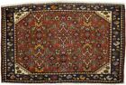 Floral Tribal Rusty Red Semi Antique 2X3 Vintage Oriental Rug Handmade Carpet
