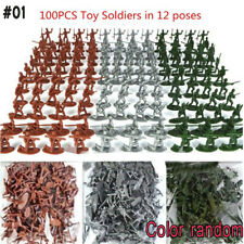 100pcs Military Soldiers Army Men Figures 12 Poses Aircraft Tanks Kids Toy #01 Soldiers