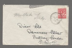 FALKLAND IS 1935 cover from Port Stanley to London, franked with SG 117