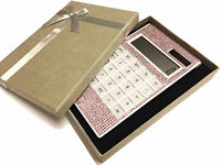 blingustyle Bling Crystal Diamante pink 12 Digit Dual Power Calculator gift NP