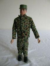 Vintage 1960s Hasbro Gi Joe Action Marine w/ Camo Uniform Hat & Boots VG