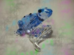 Swarovski Crystal SCS Blue Dart Frog 955439. Retired 2009. MINT w/box