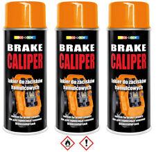 3 Stück 400ml orange Bremssattellack Lack Bremslack Bremsen Sattel Tuning