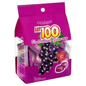 150g Lot 100 Cocoaland Black currant Gummy Candy Great Snack Halal x 2 pack