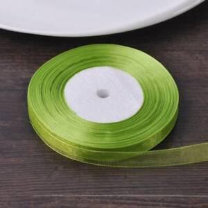 50 Yards 13mm Organza Sheer Applique Polyester Sewing Ribbon Sew Supplies DIY