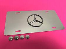 RUST FREE 3D MERCEDES LOGO Emblem Mirror Aluminum FRONT License PLATE  2009-2013