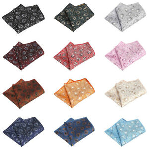 Men's Classic Paisley Flower Handkerchief Wedding Party Pocket Square Hanky