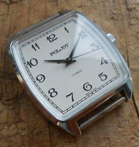 Men's vintage soviet mechanical wrist watch POLJOT cal. 2609H, USSR, 1980s