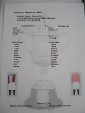 1888-89 FA Cup 1st Qualifying Rnd 2nd Rep Grimsby Town v Lincoln City matchsheet