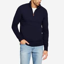 BONOBOS Lambswool Half-Zip Sweater Navy XXL Standard Fit $108