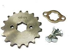 NEW #420 CHAIN FRONT PINION SPROCKET WITH 17 TEETH FOR ATV, DIRT BIKE, GO KARTS