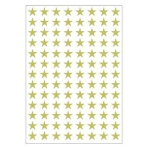 Vinyl not paper Stickers STARS 10/15/20/25 mm self adhesive crafts any colour