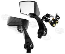 Universal Motorcycle Black/Carbon 8/10mm Aluminium Motorcycle Scooter Mirrors