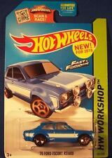 Hot Wheels Fast & Furious1970 Ford Escort RS1600 Light Blue HW Workshop #221/250