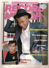 Jon Moss (Culture Club) Imagination Beki Kajagoogoo Paul Young 1983 UK magazine
