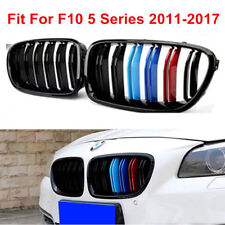 M Style Gloss Blk Grille Fit For BMW F10 5 Series 2011-2017 Aftermarket w/ D/Fin