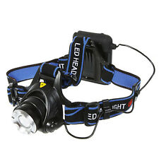 1200Lm XM-L T6 LED 3 Modes Waterproof Adjust Headlamp Focus Zoomable Headlight
