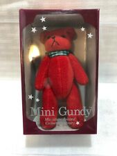 """NEW IN BOX Vintage 1991 Gund MINI GUNDY Minature Jointed RED Bear 4"""""""