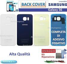 BACK COVER SCOCCA POSTERIORE VETRO PER SAMSUNG GALAXY S6 G920 F NERO BIANCO GOLD