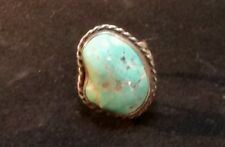 Vintage  sterling silver turquoise ring size 11.5