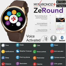 MyKronoz Voice Activated TOUCHSCREEN Smart Watch with Speaker for Android iOS