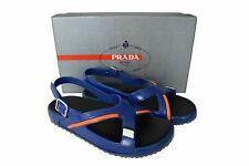 New Authentic PRADA Mens Shoes Sandals Blue Sz US10 EU43 UK9 4X3092