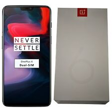 New OnePlus 6 A6003 64GB Dual-SIM Mirror Black Factory Unlocked 4G/LTE SImfree