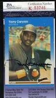 Tony Gwynn 1987 Fleer Jsa Coa Hand Signed Authentic Autograph
