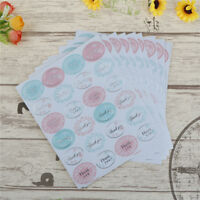 240X Thank you Paper Label Sticker Seal Stickers for DIY Gift Cookie PackagingA*