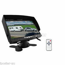 """4Pin Connector 12-24V 7"""" TFT LCD Monitor 2 channel Video In+Remote For Truck Van"""