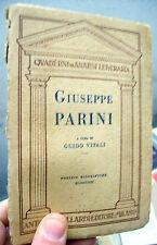 1929 'GIUSEPPE PARINI' A CURA DI GUIDO VITALI RARA PRIMA EDIZIONE ILLUSTRATA