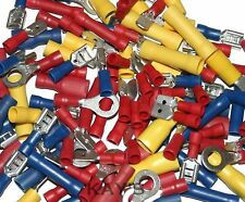 1000 Red,Yellow,Blue Electrical Crimp Terminals~Spades,Rings,Bullets,Rings,Forks