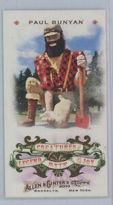 Paul Bunyan 2010 Topps Allen & Ginter Mini Card Creatures Legend Myth Joy SP SSP