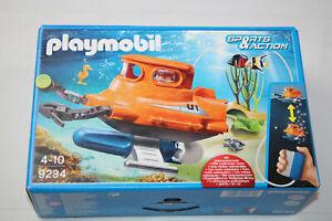 Playmobil 9234 U-Boot mit Unterwassermotor Pumpe Boot Schiff Action Motor OVP