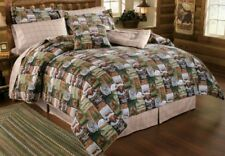 Wilderness Camp 10 Piece Twin Comforter Set Woodland Cabin Bear Deer Lodge