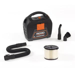 RIDGID Wet/Dry Vacuum 3 gal. 18-Volt Blower Port Built-In Accessory Storage