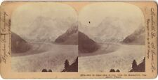 Mer de Glace Chamonix France Photo Stereo Stereoview Papier Citrate Vintage