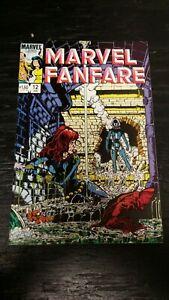 1984 MARVEL COMICS MARVEL FANFARE #12 1ST APP SNAPDRAGON VF+ BLACK WIDOW