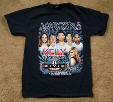 Maroon 5 Kelly Clarkson 2013 black t shirt short sleeve size M tour cities list