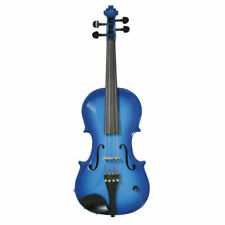 Barcus Berry BAR-AEVB Acoustic-Electric Violin Outfit w/ Case Blue Handcrafted