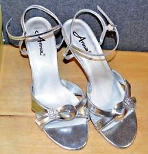 Annie Shoes Women's Silver Sandals  Size 8 M US NIB