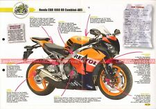 HONDA CBR 1000 RR ABS 2010 Joe Bar Team Fiche Moto #003306